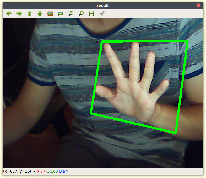 JeVois (Gesture Recognition with Quantized Neural Network